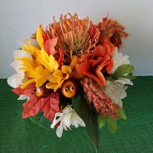 Handmade Accents - Orange Protea Bouquet Centerpiece